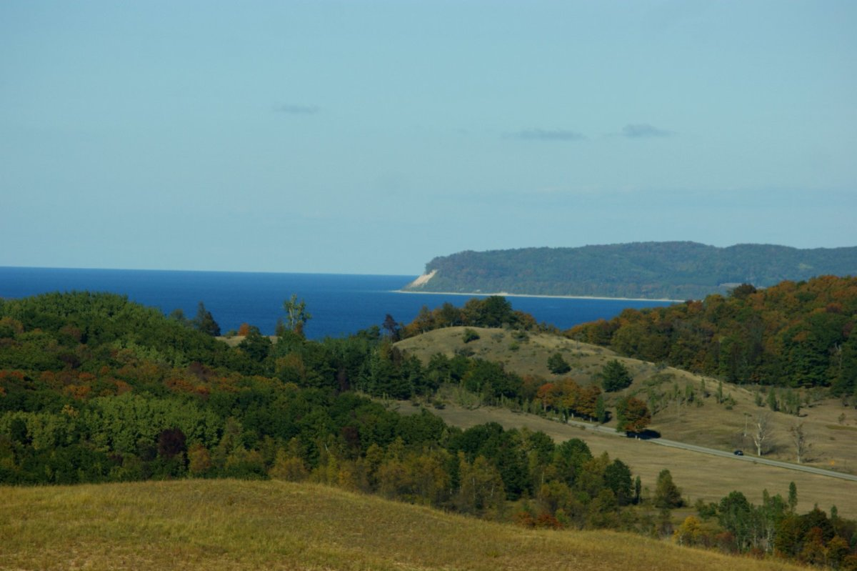 Dunes, Lake Michigan and South Manitou Island