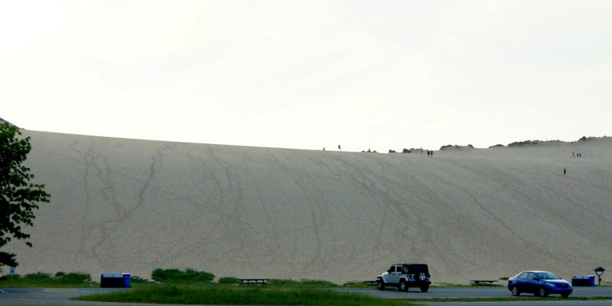 The Dune Climb from the bottom.  Looks easy huh?  See you at the top.  The Dune Climb is on Highway 109 between Glen Haven and Empire.