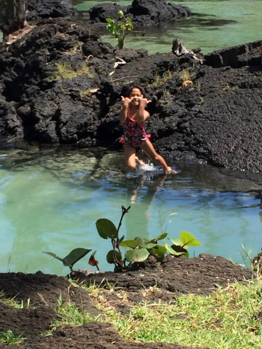 Kids on the Big Island love the ocean, even if many shorelines are rocky.