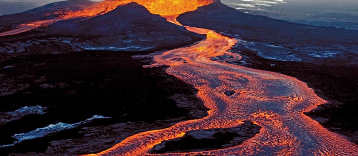 Kilauea volcano lava flow, May 2016