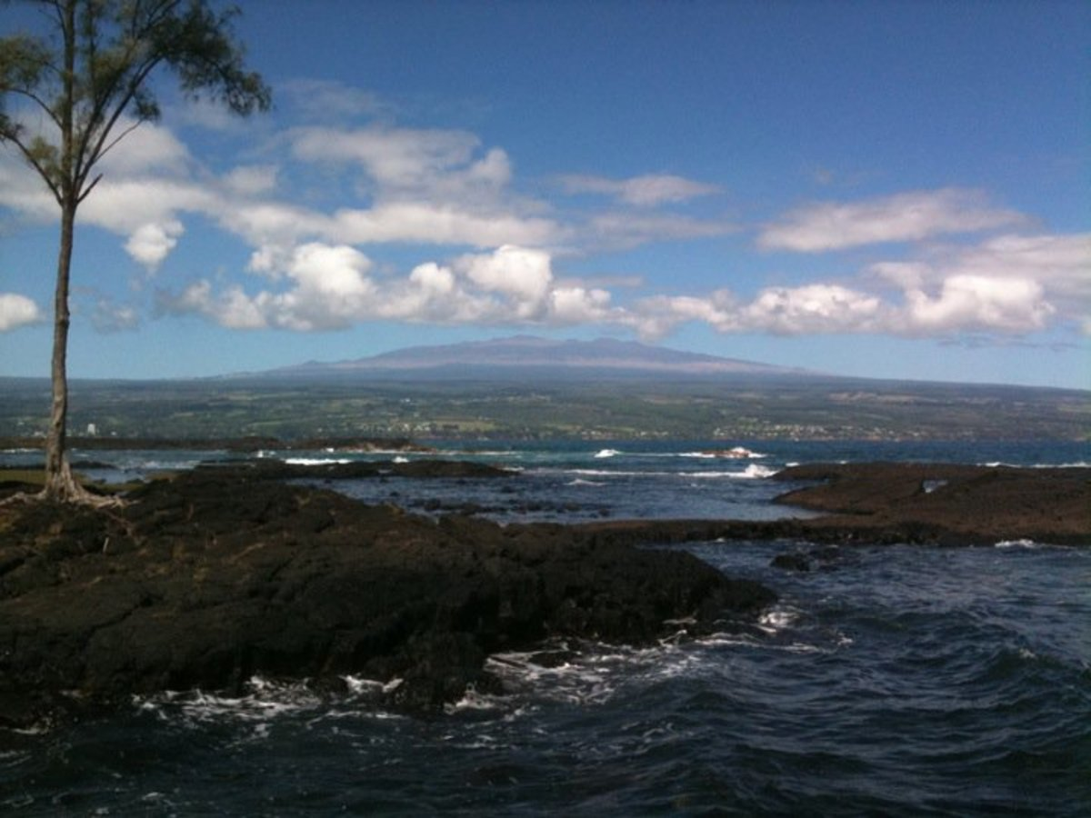Mauna Kea is an ever-present backdrop in Hilo.