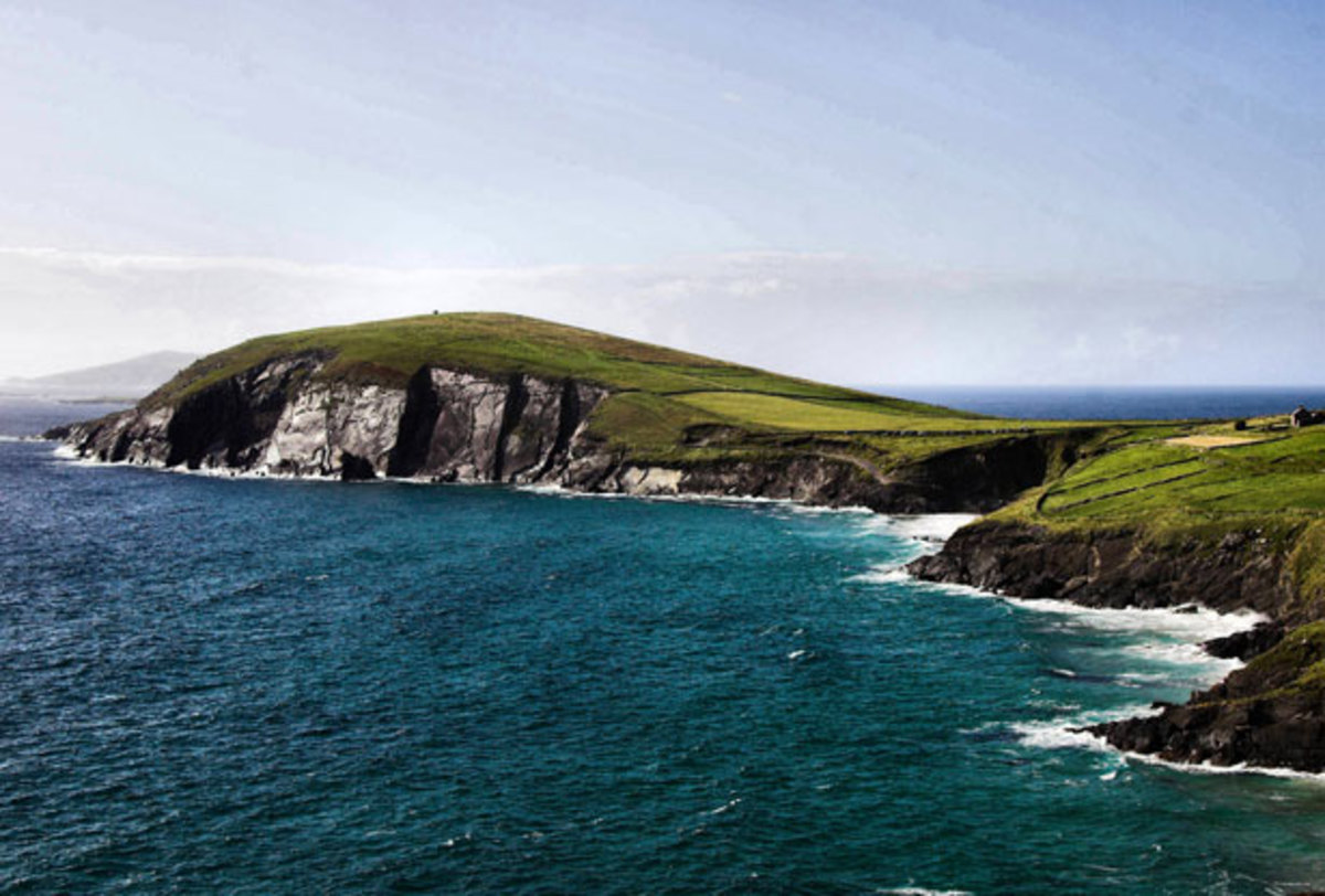 Coastline of the Dingle peninsula