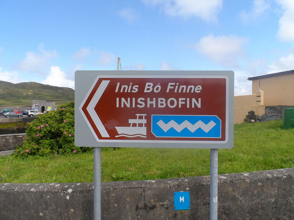 "Location sign on ""The Wild Atlantic Way"" with the wavy line logo."