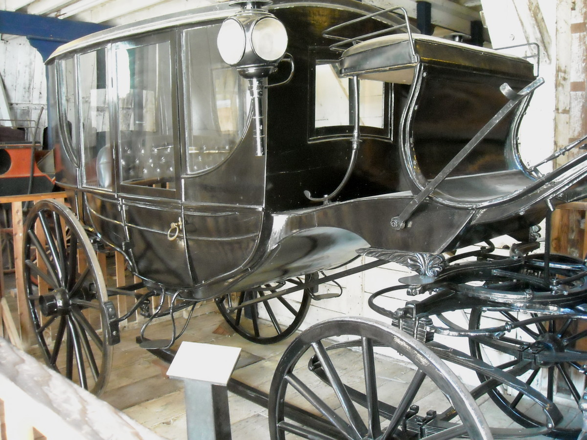 Luxury carriage in the livery stable