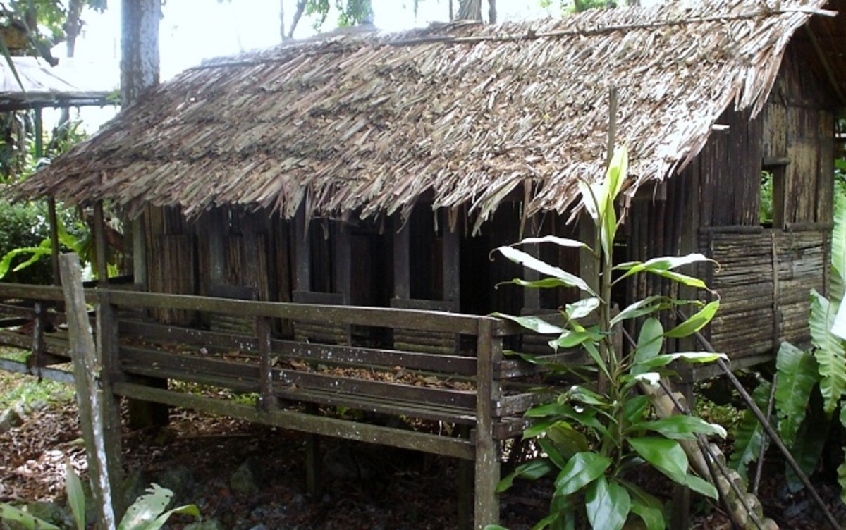 A replica of the longhouse