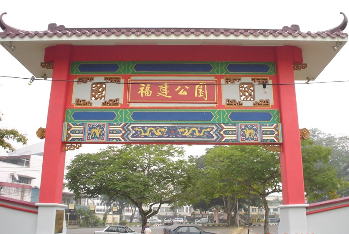 Hokkien Public Garden in Padungan has 5 pavilions to represent different regions of the Hokkien province in China.