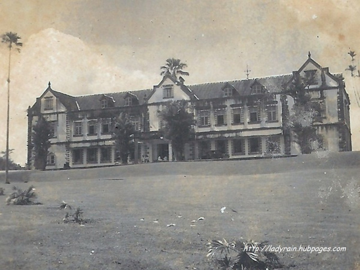 The Sarawak Museum in its extended structure in 1951