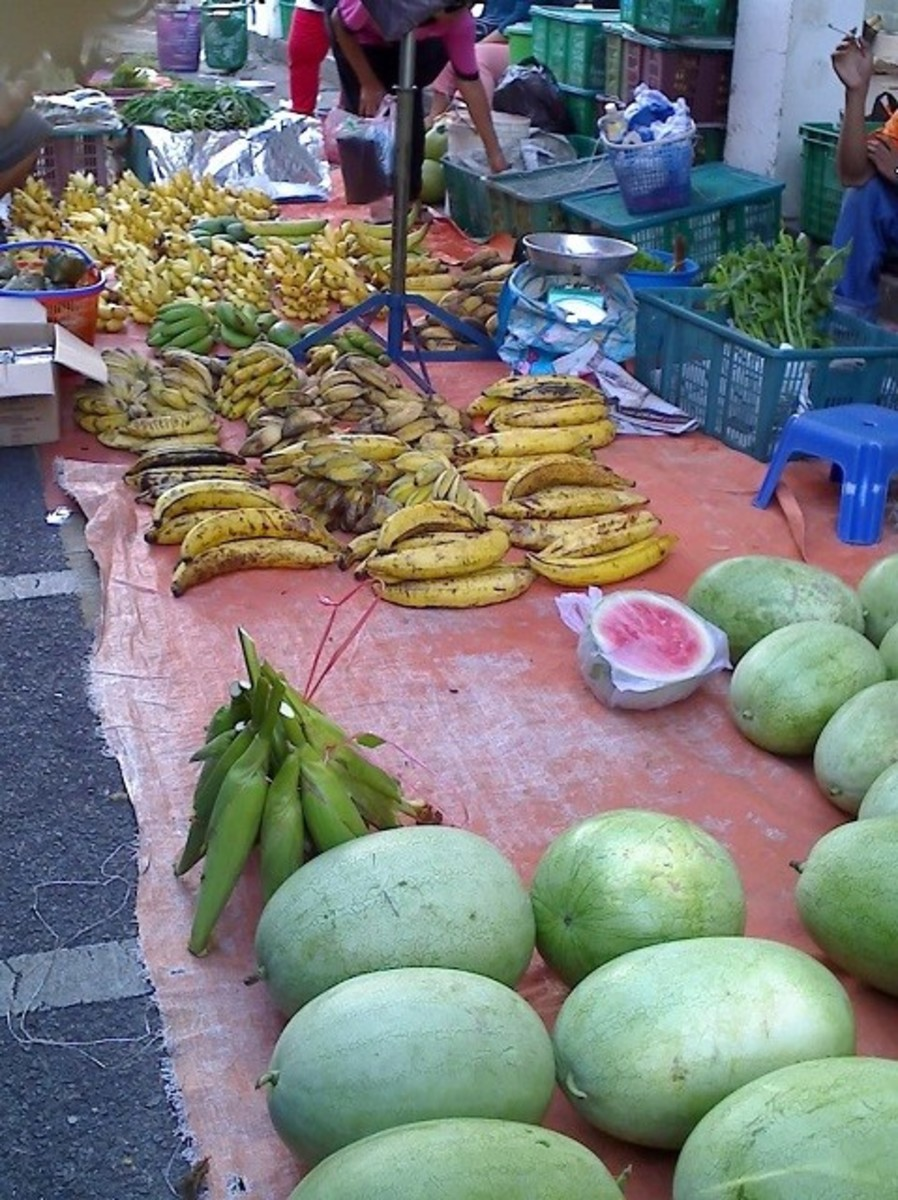 A native stall at the Sunday Market