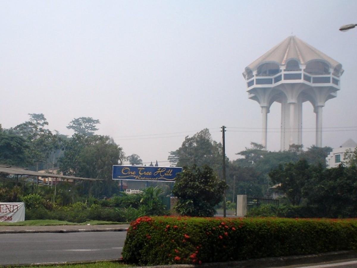 Kuching Civic Centre on a rainy day