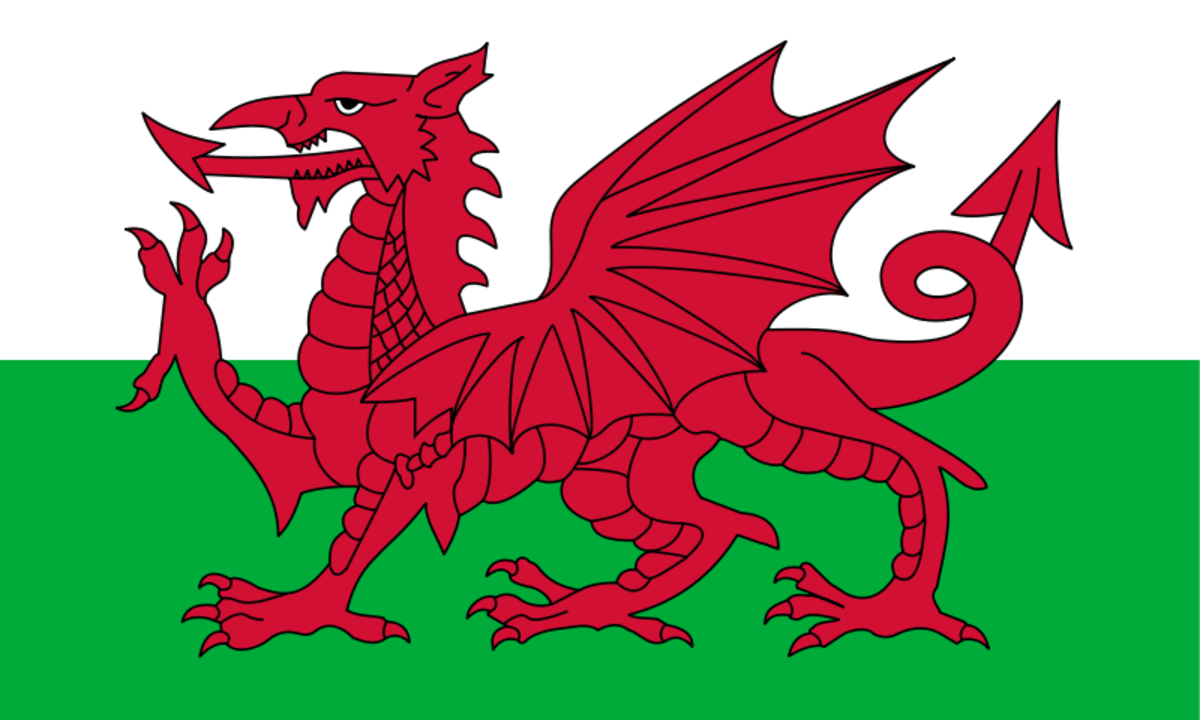 The red dragon of Wales; Henry Tudor carried this banner into battle at Bosworth Field and won his victory to become King of England