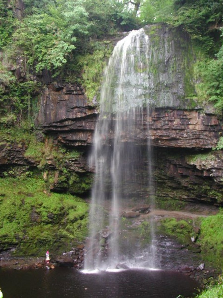 It's easy to see why the Brecon Beacons are a National Park.  Henrhyd Falls, Coelbren.