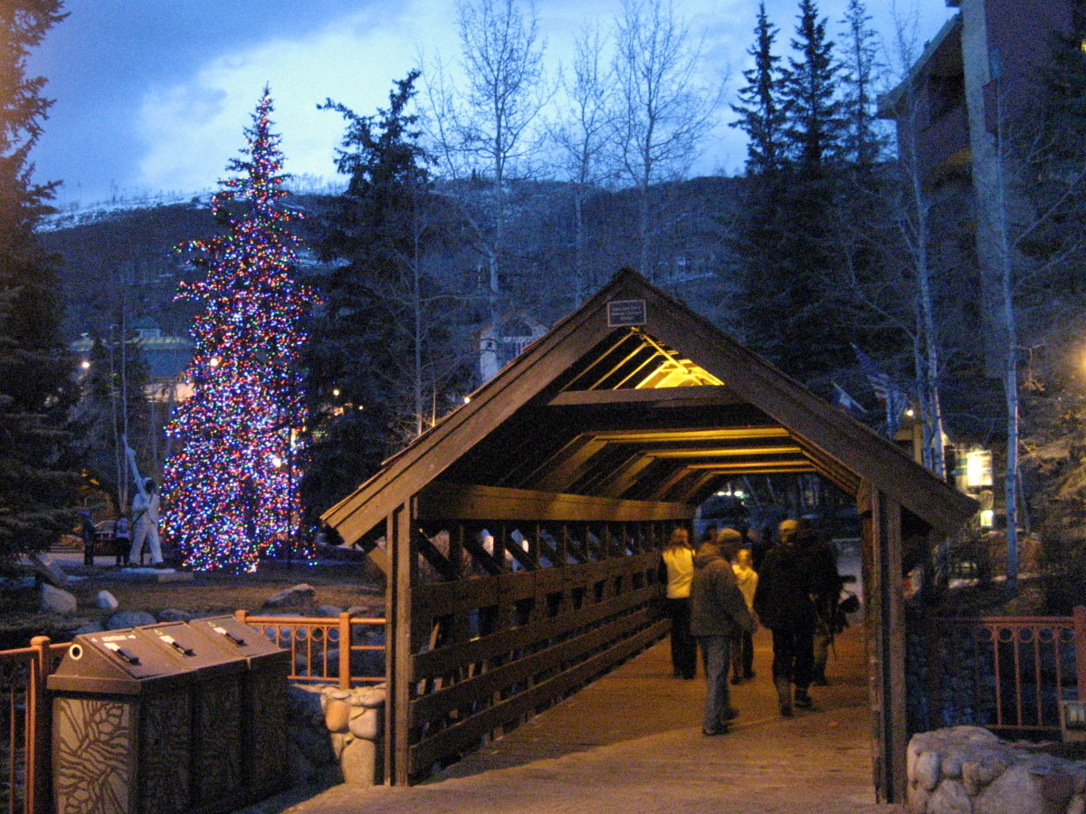 Vail Village at sundown
