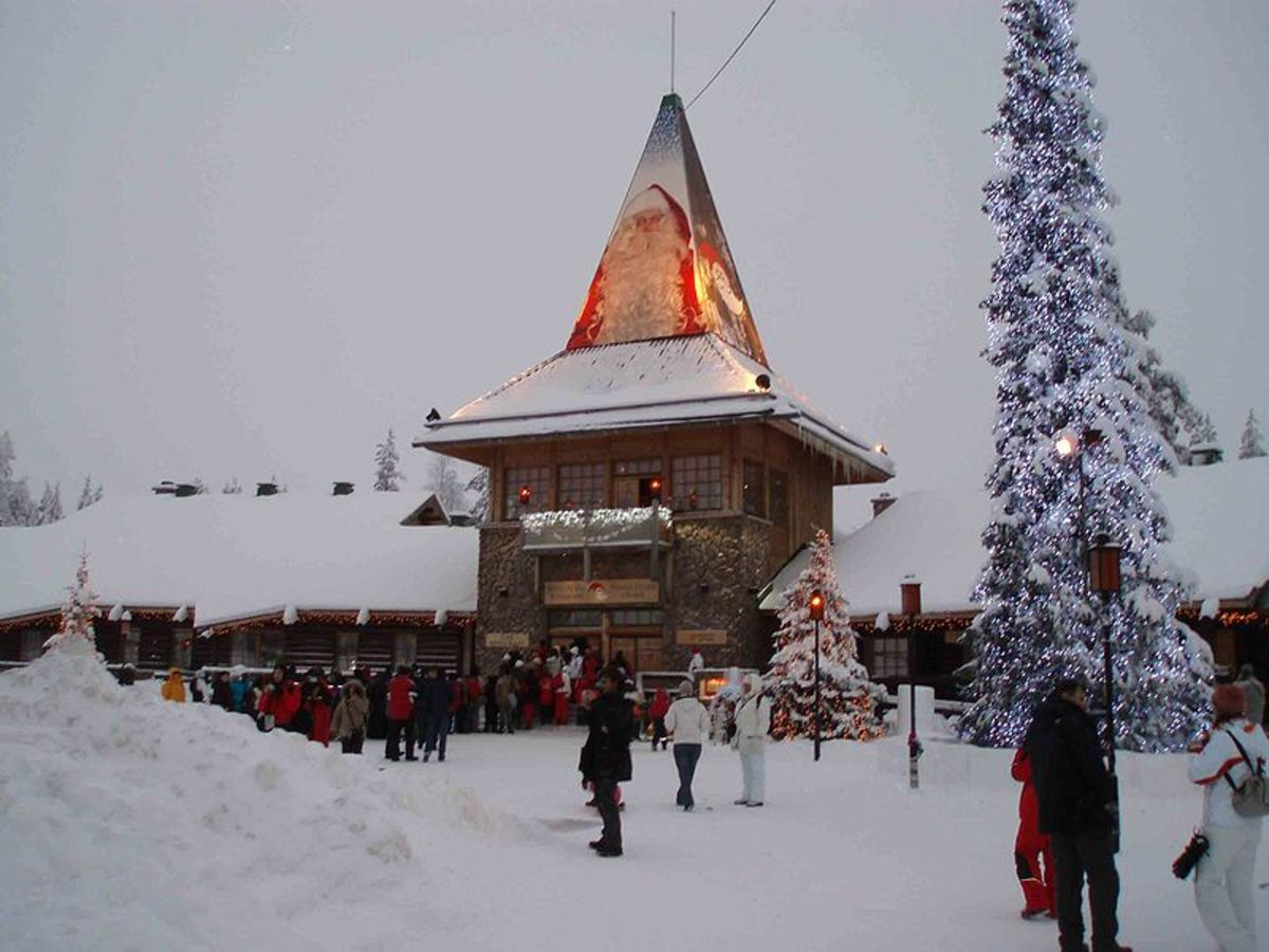 The Santa Claus Village in Lapland, Finland