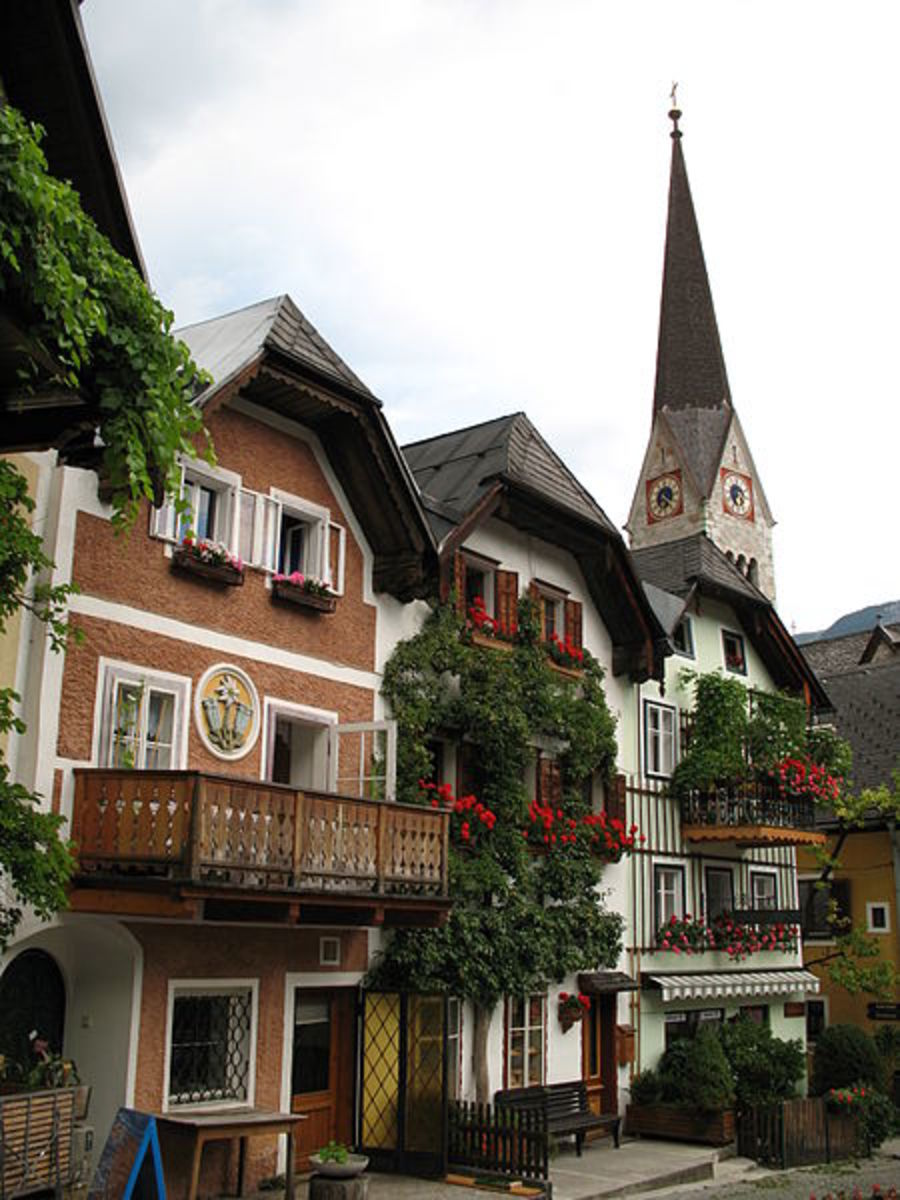 A charming street in Hallstatt