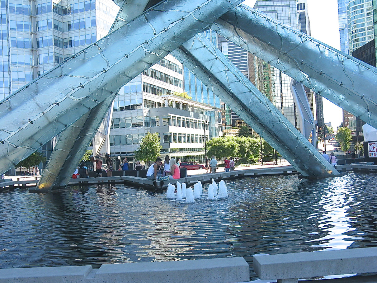Another view of the Olympic Cauldron