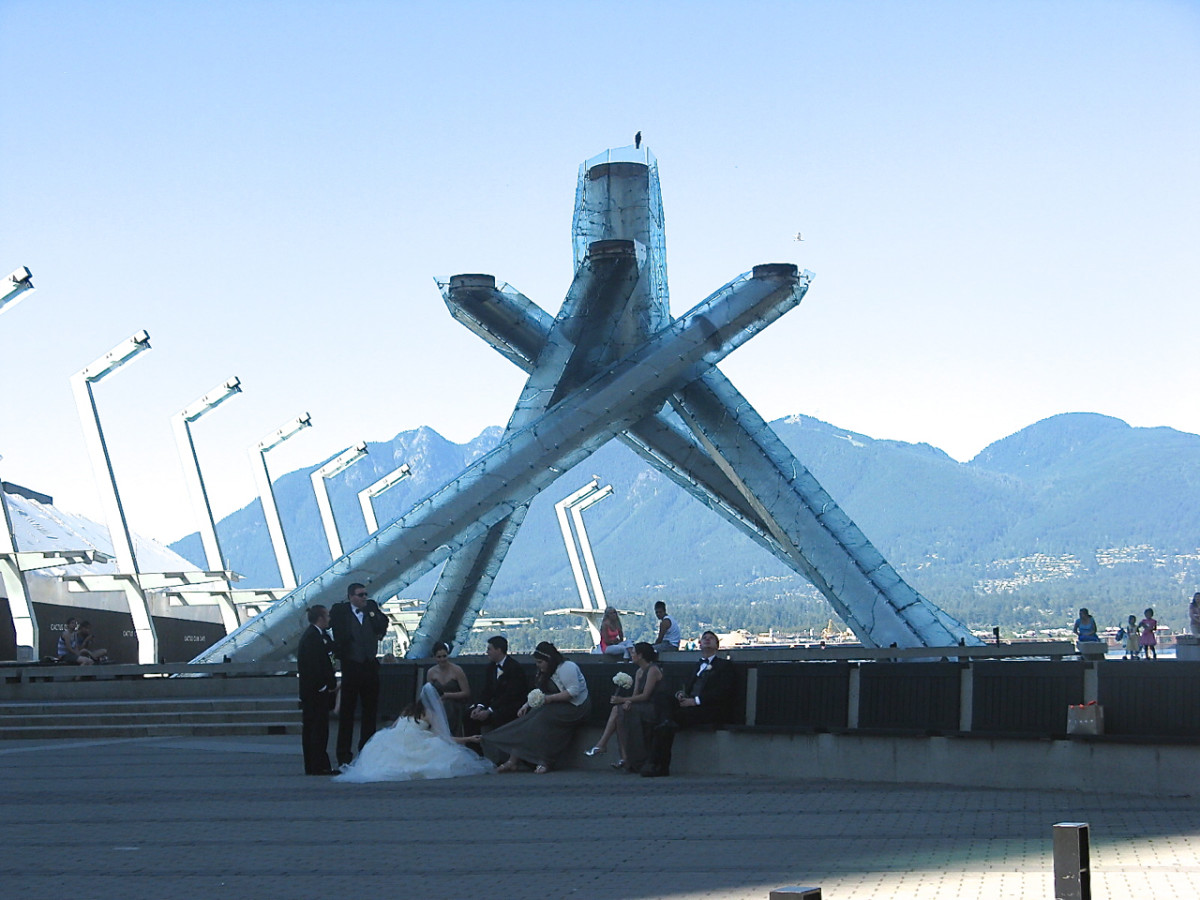 The Olympic Cauldron burned continuously during the 2010 Winter Olympics, which were hosted by Vancouver and Whistler