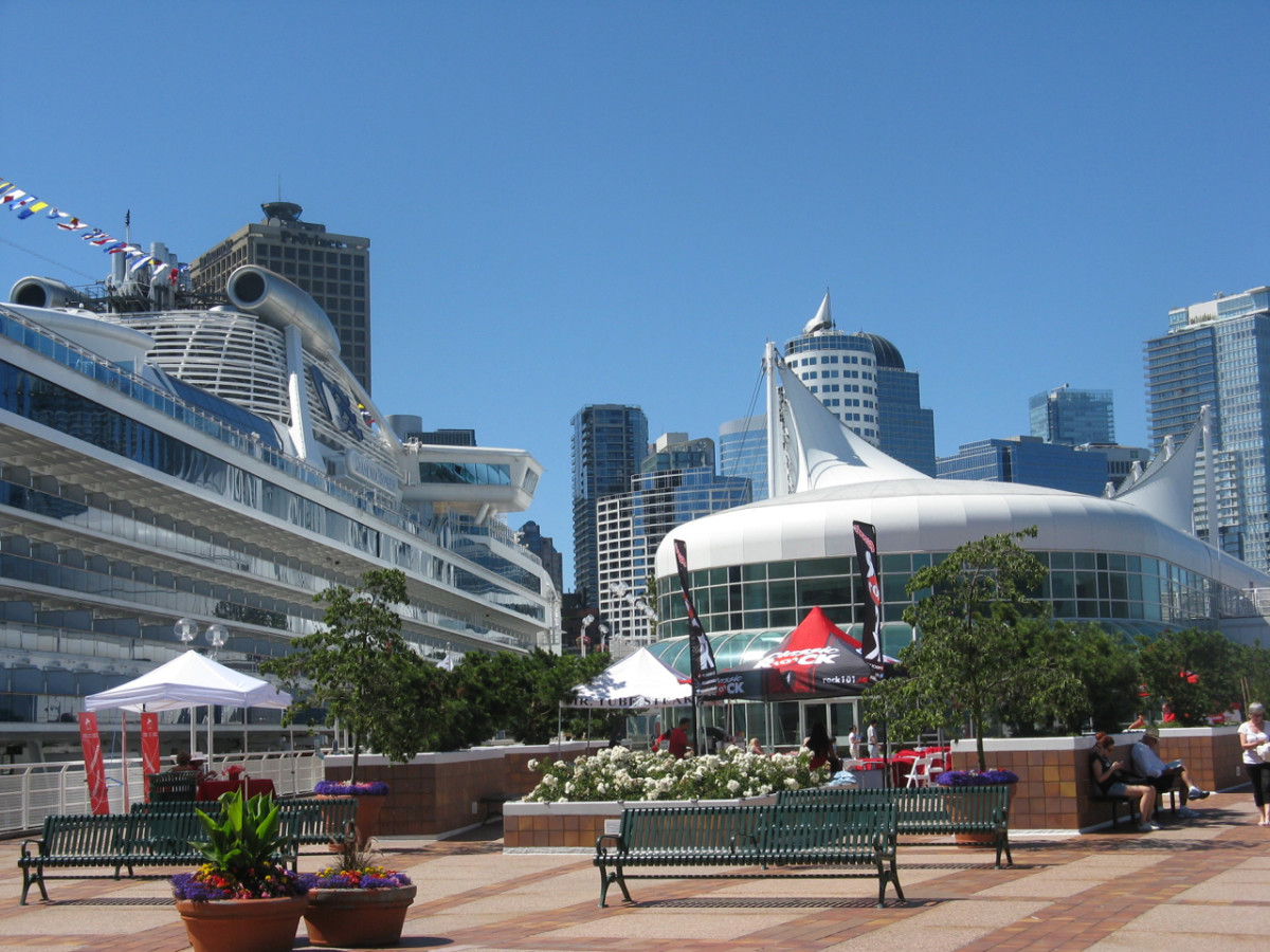 Another cruise ship on the other side of the Canada Place pier