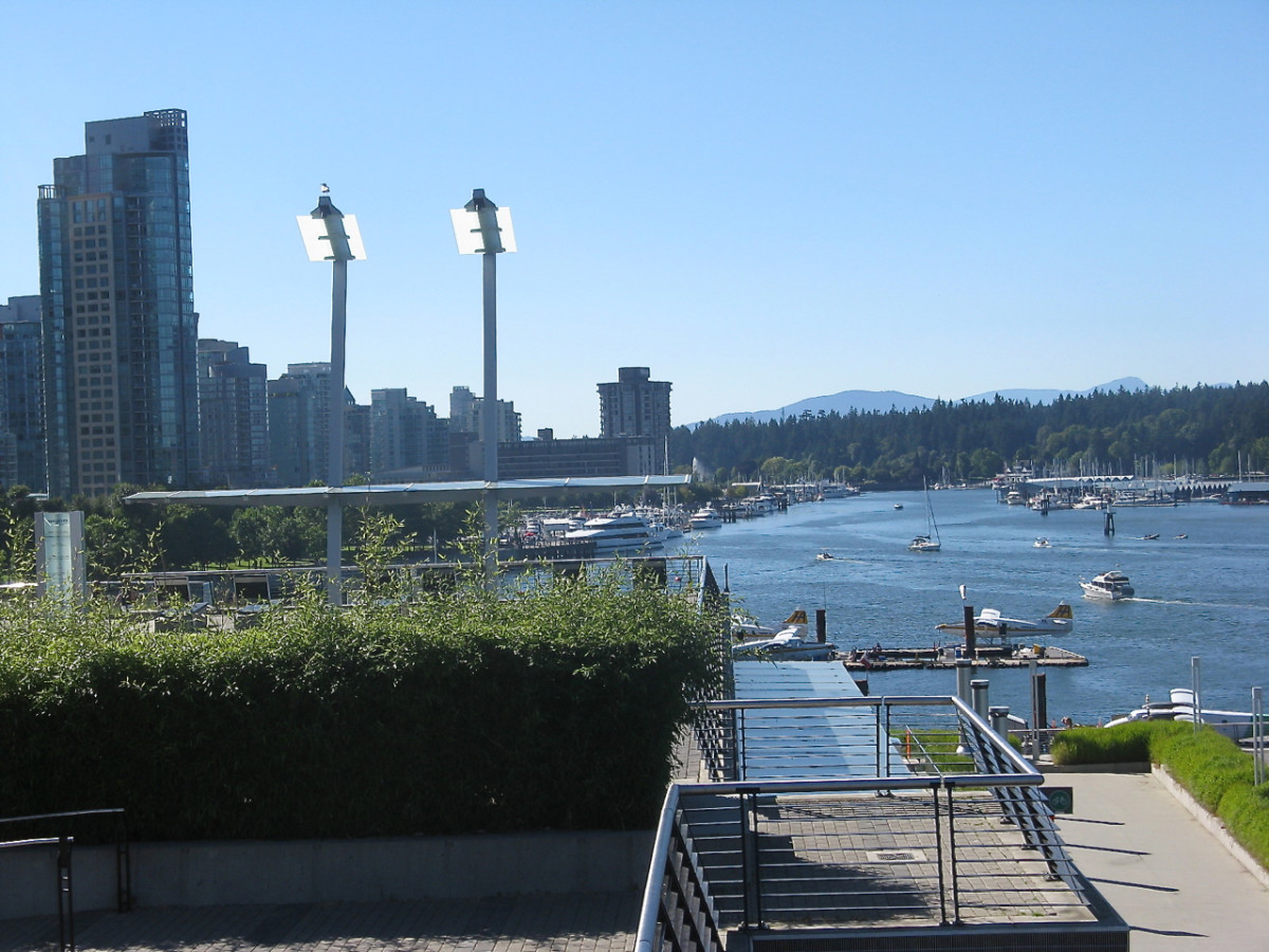 Burrard Inlet seen from a high vantage point