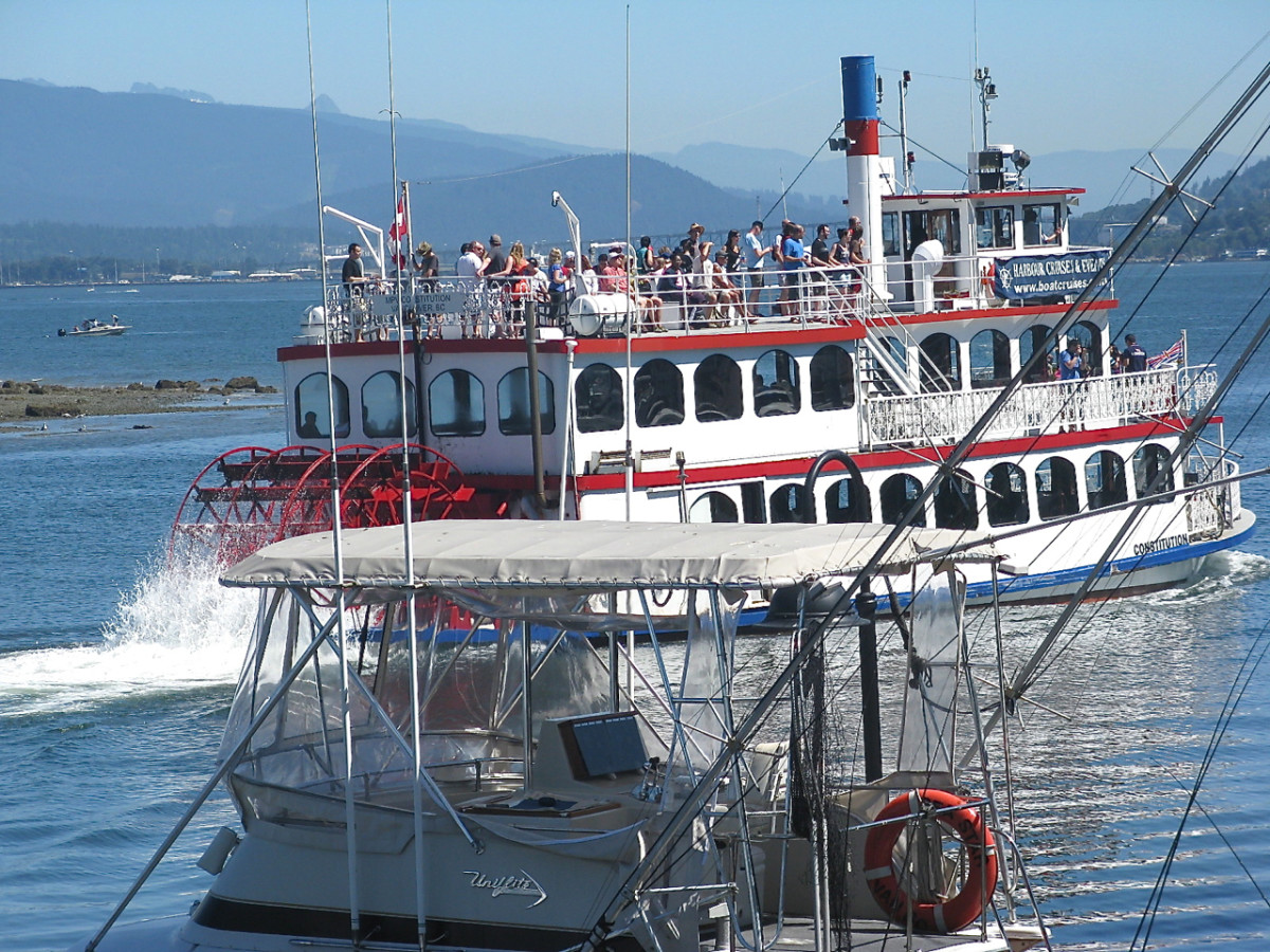A paddle steamer harbour tour