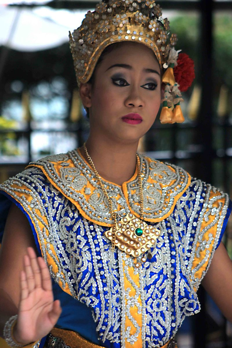 Dancer in traditional costume