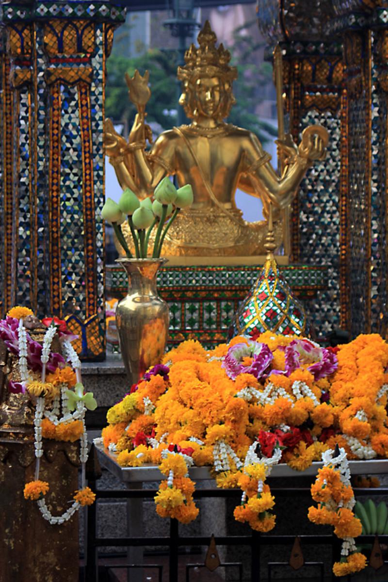 The Shrine of Phra Phrom or Than Tao Mahaprom - the Thai version of Brahma