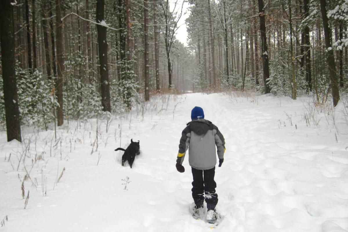 Winter snowshoeing adventure.