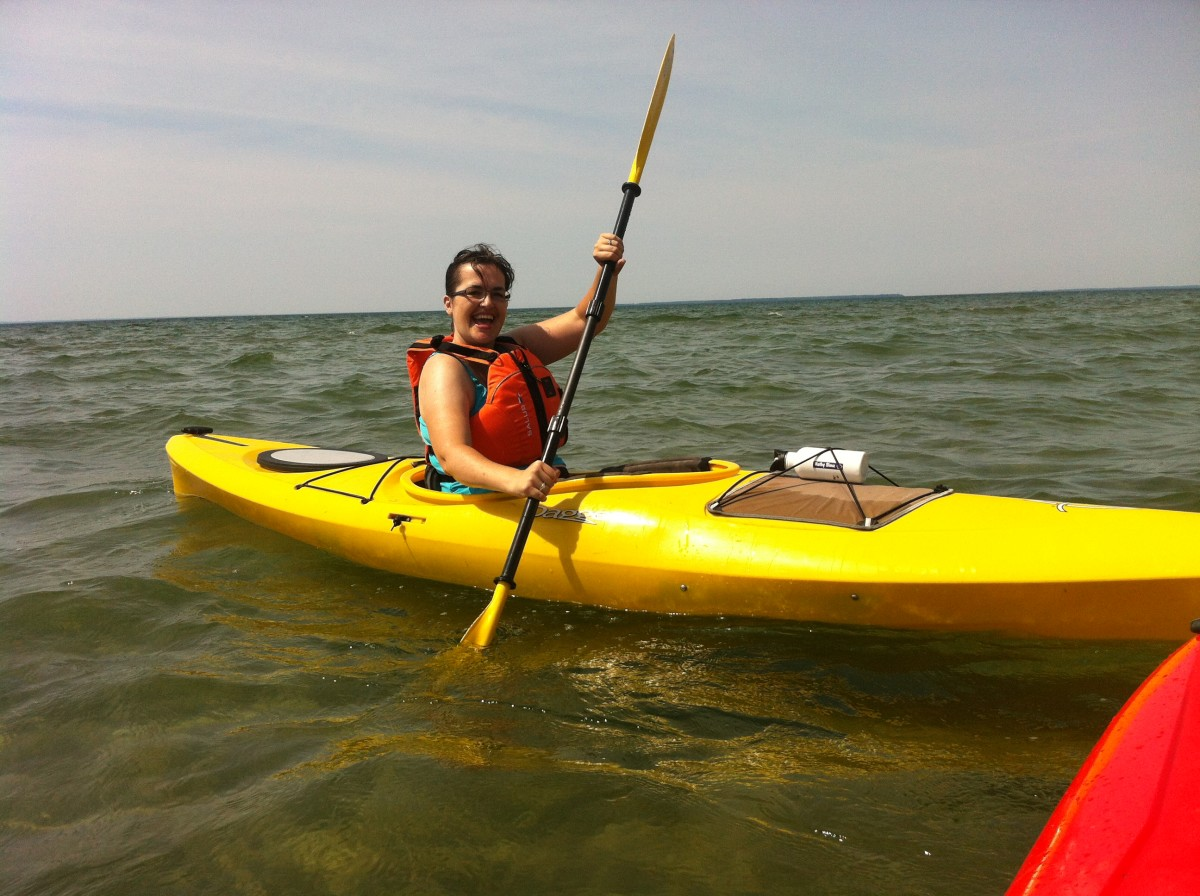 Spend some of your staycation learning how to do something new, like kayaking.