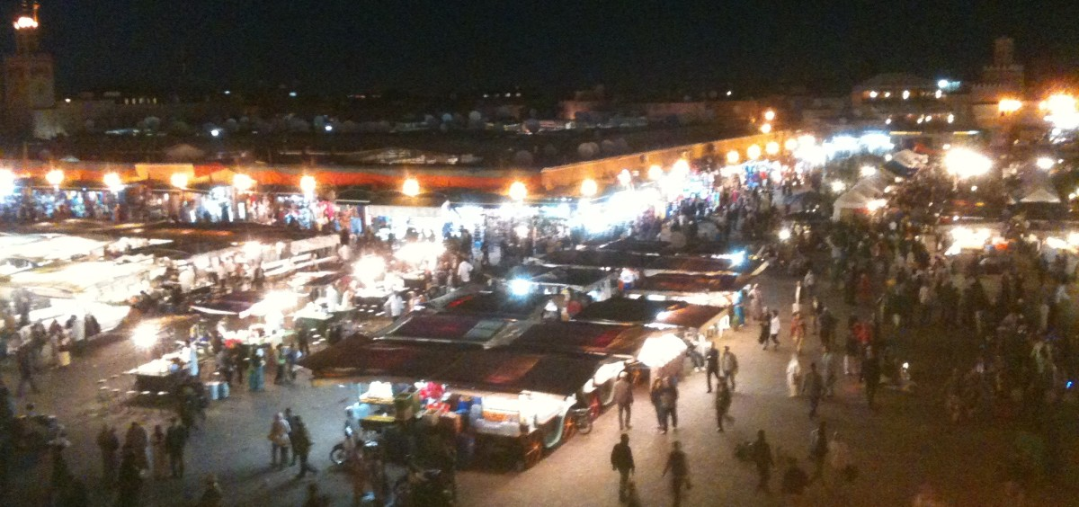The Djemaa El Fnaa is a wonderful place to see a carnival but you need to be attentive
