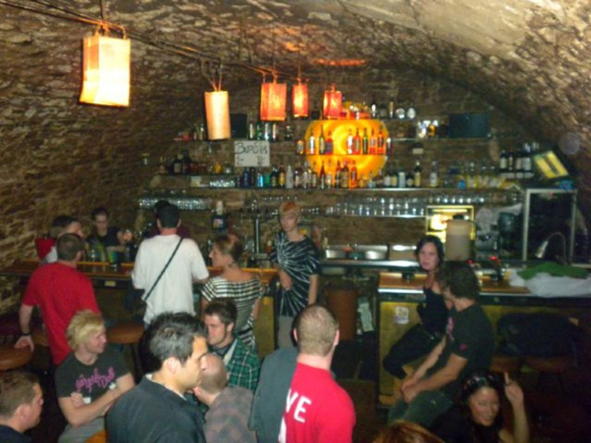 One of many underground bars in Prague