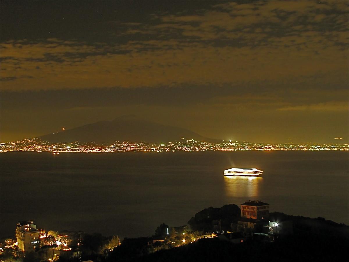 Mount Vesuvius across the Bay of Naples