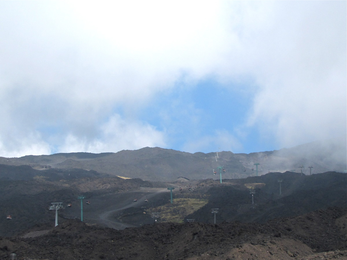 The slopes of Mount Etna