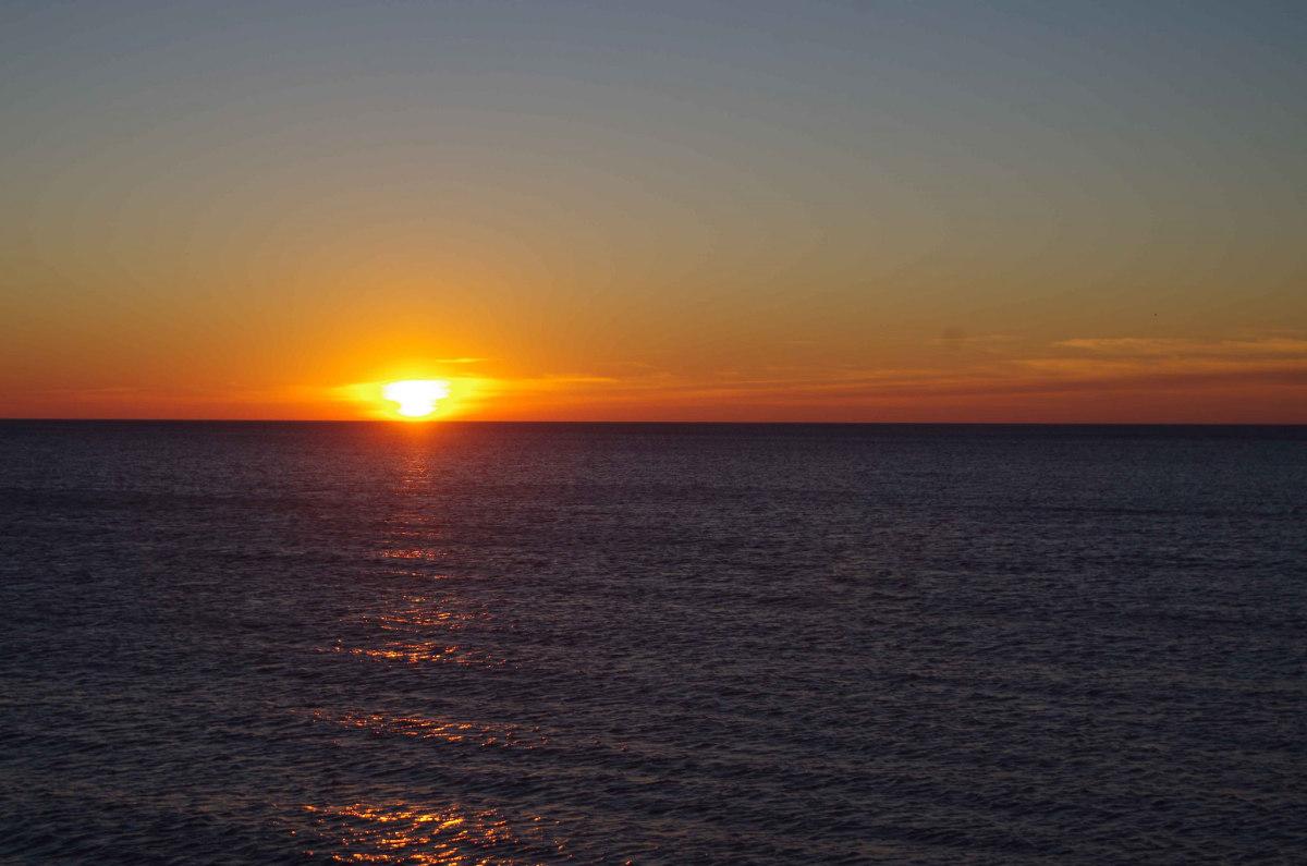 Sunrise at Illinois Beach State Park near Zion, Illinois