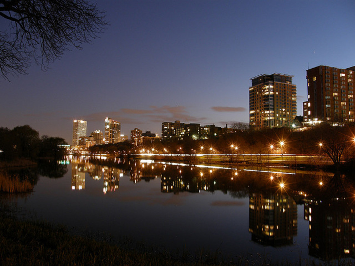 Downtown Milwaukee at Night