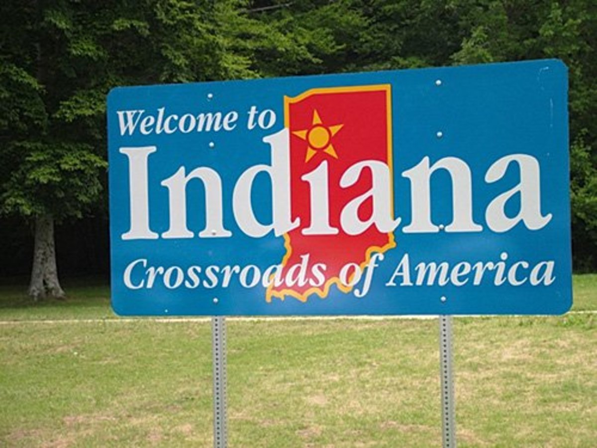 Welcome to Indiana sign
