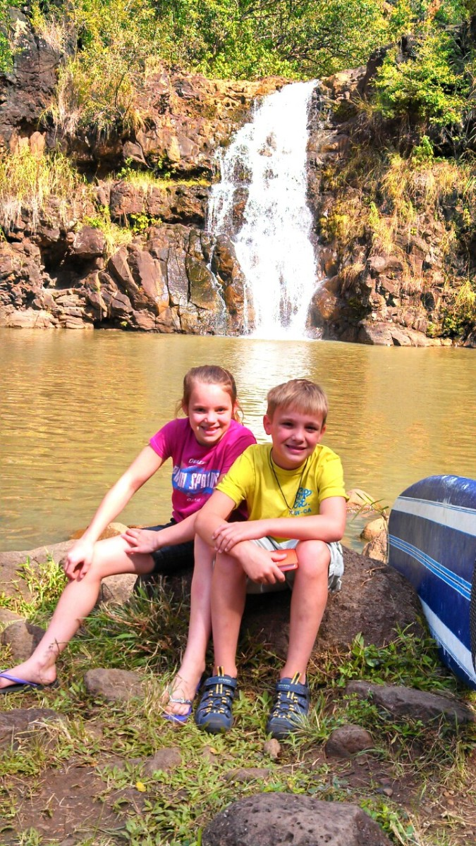 Great photo opportunity at Waimea Falls
