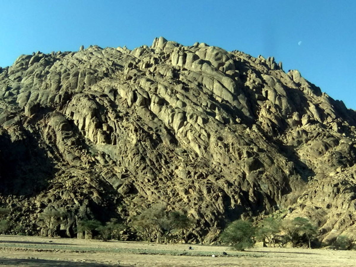 Rugged but beautiful mountains at Wadi al Jinn in Madinah Magnetic Hills
