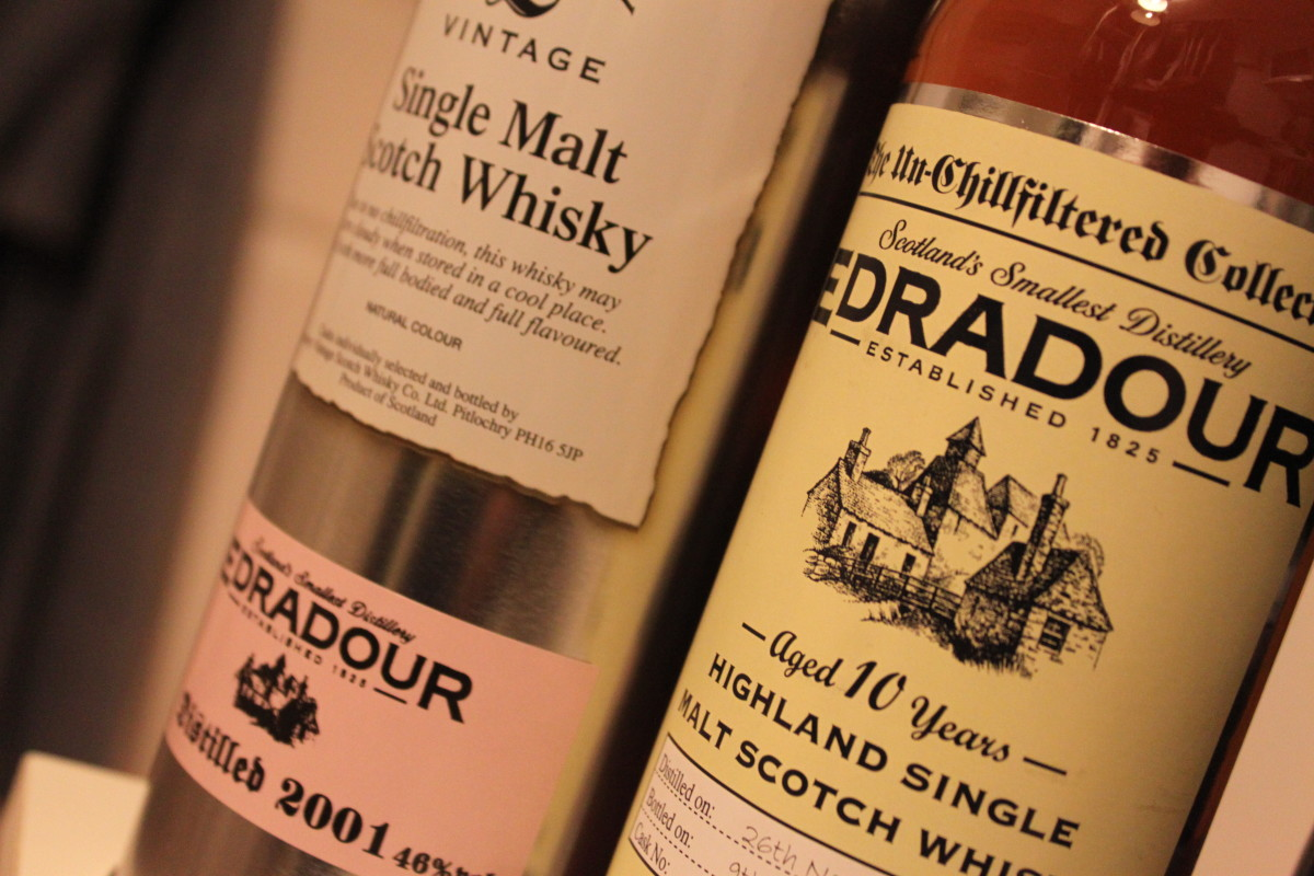 Edradour 10 Year Old Single Malt Whisky- Un-chill filtered 2001