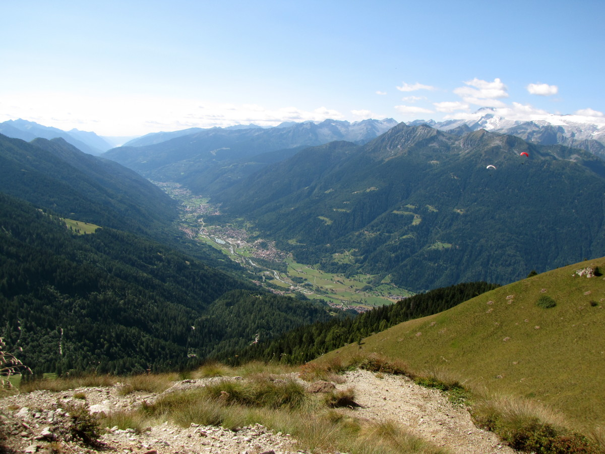 The Val Rendena.  Notice the paragliders on the right.