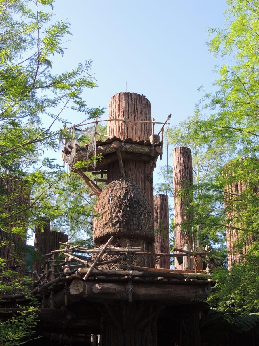 Ewok Village by the Star Tours ride at Disney's Hollywood Studios