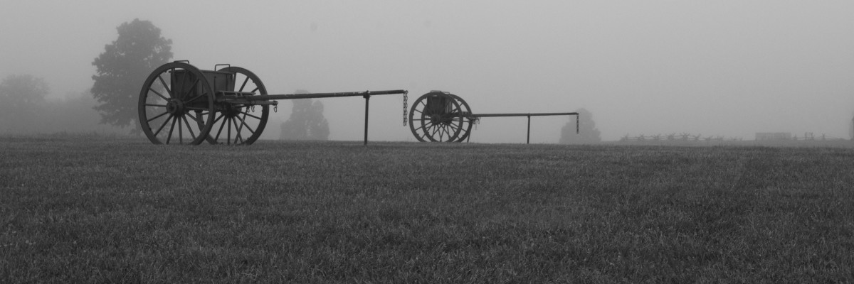 Foggy mornings are a great time to capture the cannons near the visitor's center.  I like converting these to black and white to really capture the quiet and peaceful feeling.