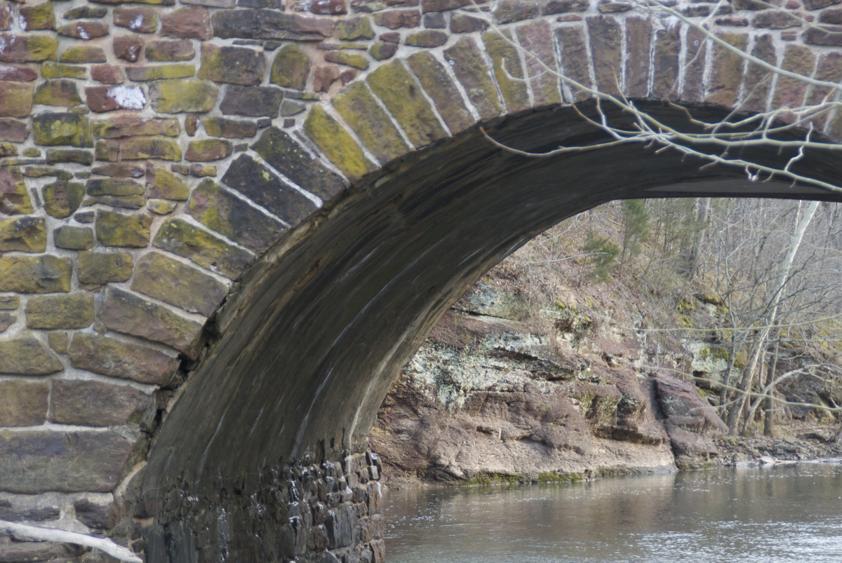 Stone Bridge on a nice and quiet day.  Look at the other photo of the torrential flood during a storm in 2012.