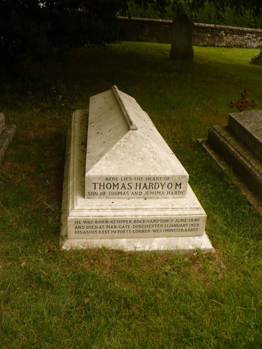 The gravesite of Thomas Hardy--where his heart is buried.