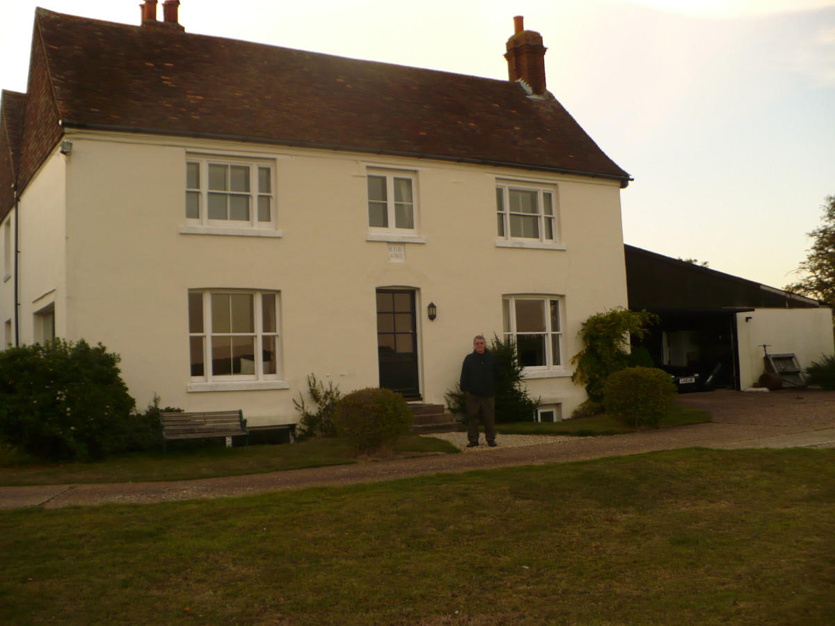 Our B & B in Kent, overlooking a sheep farm.  The date over the door says 1769.