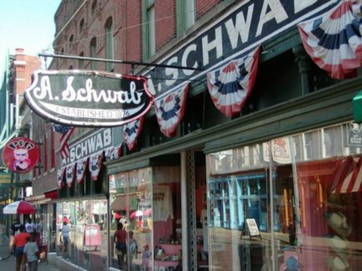 A. Schwab is a shopping experience! This is a place where you will find once in a life time souvenirs.