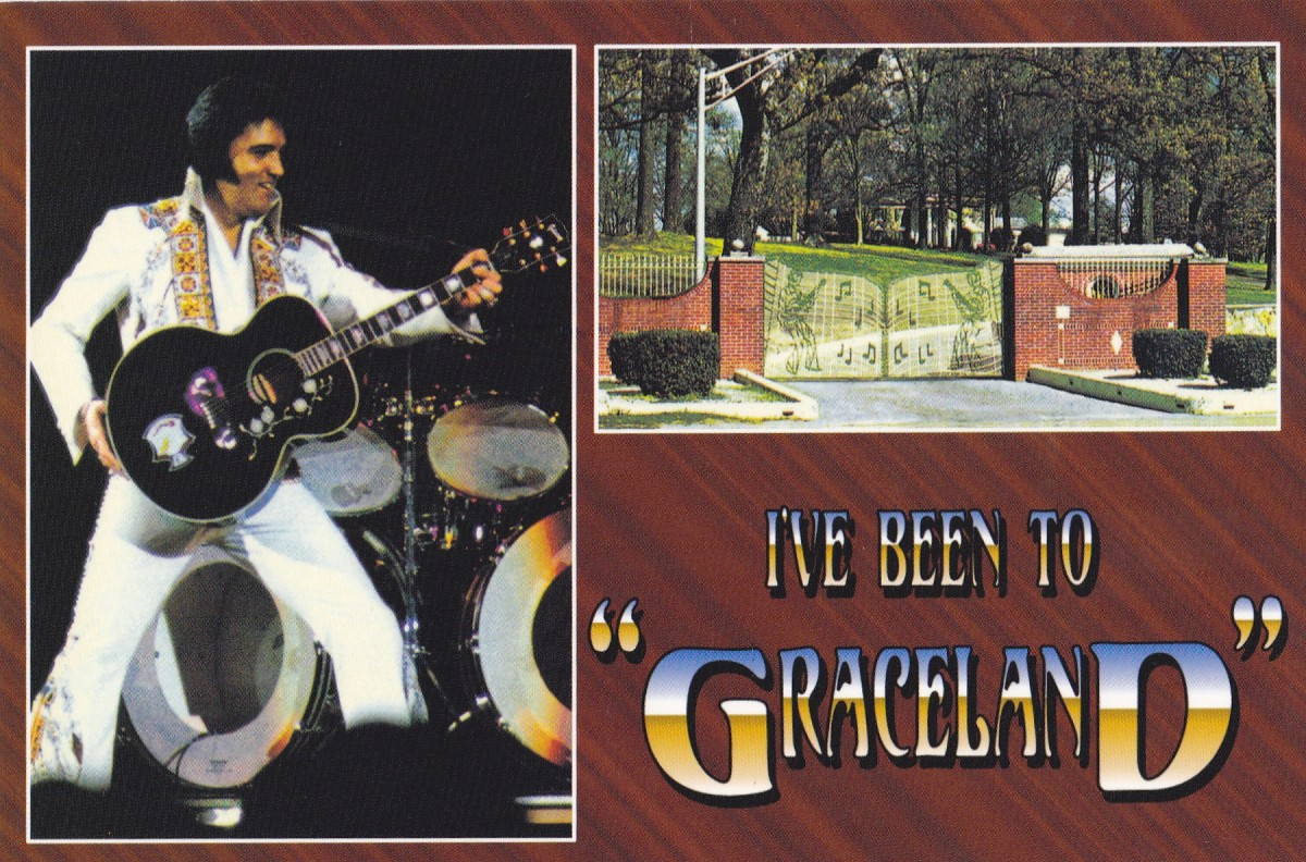 A postcard I purchased at one of the Graceland gift shops.