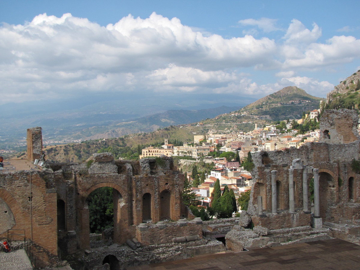 Taormina from the Teatro Greco