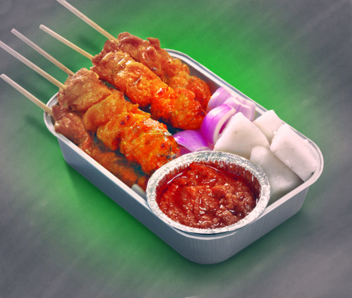 Satay Combo served on Air Asia AK Flights