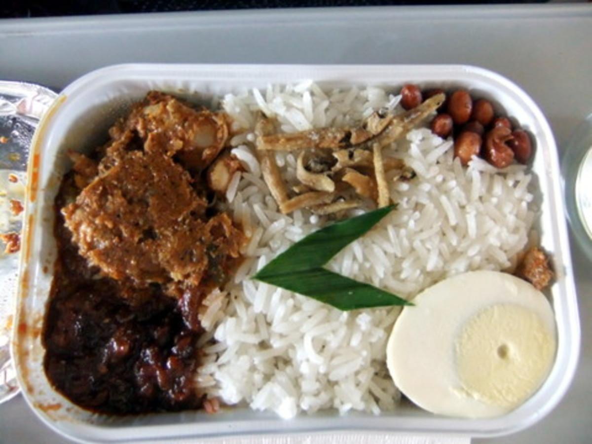 Pak Nasser's Nasi Lemak on Air Asia flights