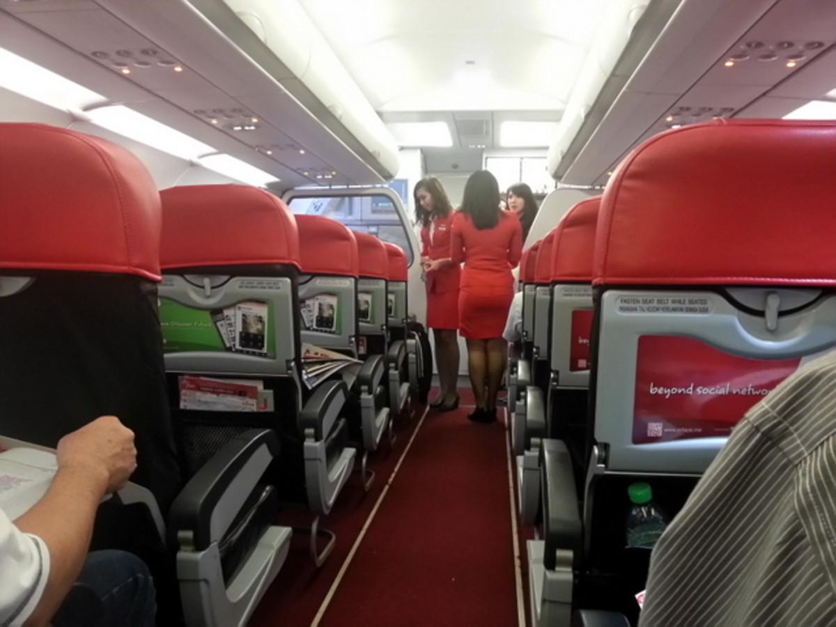 Onboard AirAsia Airbus A320 plane