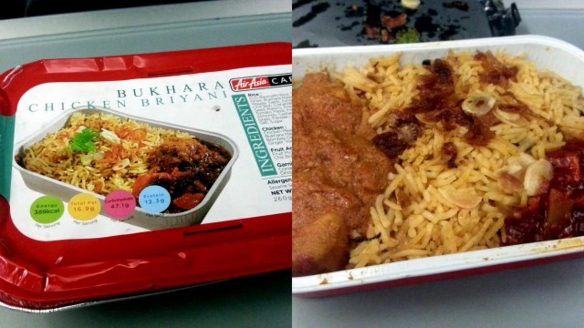 Bukhara Chicken Biryani on Air Asia
